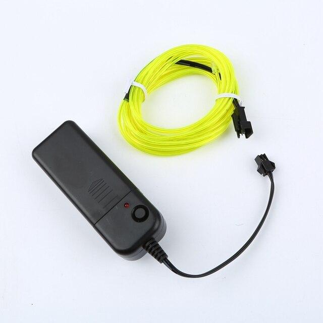 1m/3m/5M 3V elastyczna lampa neonowa Glow przewód świecący przewód taśmowy taśmy światła neonowe LED lampa neonowa s buty odzież samochodowa wodoodporna taśma led nowy
