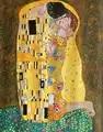 Handmade Oil paintings lovers Romantic figure art Gustav Klimt The kiss Painting on canvas beautiful image for wall decor