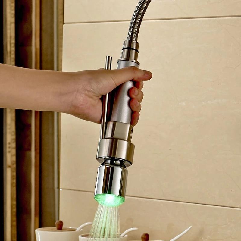 led light kitchen sink faucet spray
