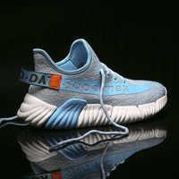 Nuevo diseñador de marca de moda Flyknit hombres zapatillas transpirables ligeros hombres Zapatos casuales Zapatos Para Correr