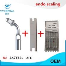 Ultrasonic scaler dental endo tip wrench endo file stainless steel U file for Woodpecker DTE SATELEC GNATUS ultrasonic scaler