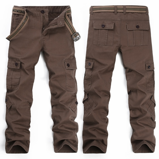 2017 New Mens Cargo Pants Militar Tactical Outdoor Combat Swat Army Training Sport Hiking Hunting Military Pants BYL8233