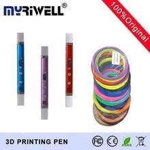 Mr RB-100C добавить 100 м 20 Цвет ABS нити 3D ручка 1.75 мм ABS/PLA детей Best интеллект Образование подарки 3D каракули ручка
