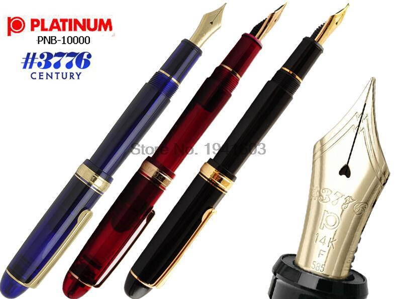 One Piece PlatinuFountain pen Original platinum 3776 Century PNB-10000 Solid Gold 14K M Nib все цены