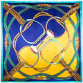 90cm*90cm Free Shipping Europe H style women square silk scarf 5 colors