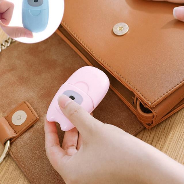 Travel Bag Portable Hand Wash Paper Soaked Mini Perfumed Soap Disposable Paper Color Random Outdoor Activity 1