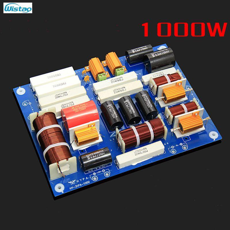 Wysokiej mocy Crossover 1000 W profesjonalny 3Way Crossover pkt 0.8 KHZ 3.5 KHZ dla 12/15 cal 3  drożny głośnik HIFI Audio w Akcesoria do głośników od Elektronika użytkowa na AliExpress - 11.11_Double 11Singles' Day 1