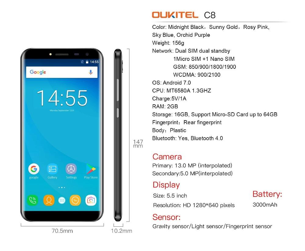 oukitel c8 Smartphone (12)