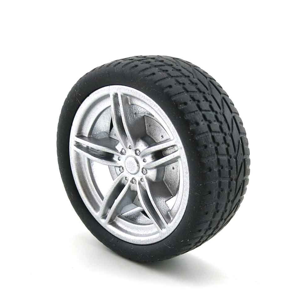 40mm Rubber Wheel for Tracking Model Car Robot Accessories DIY Production RC Toy Car Parts &