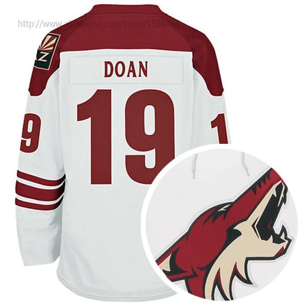 online store f85af b41f3 € 29.62 |Arizona Coyotes Shane Doan mode maillot blanc authentique Hockey  sur glace maillots sergé applique logo de l'équipe / point de nom correctif  ...