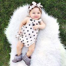 New Arrival Newborn Romper Cute Baby Girl Infant Clothing 2pcs/Sets Tutu Sleeveless Romper Halter Belt jumpsuit+Headband