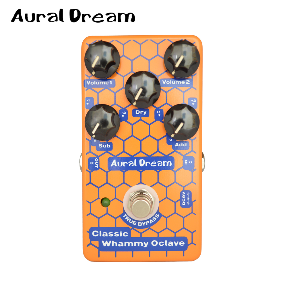 Aural Dream Classic Whammy Octave Electronic Guitar Effects Padel with 2 Volume Knob Guitarra Accessory thing classic volume 2