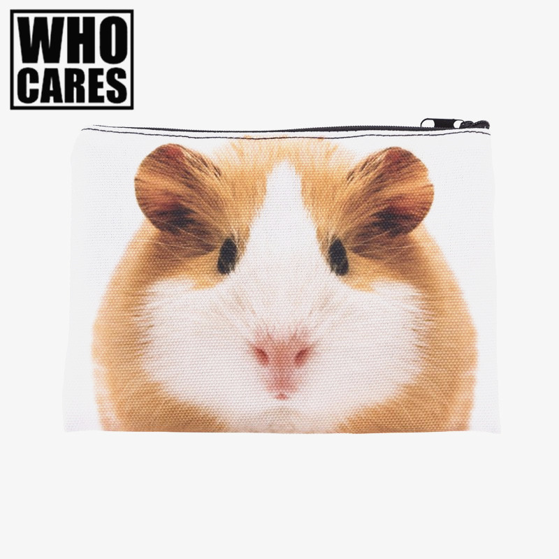 guinea pig 3D Printing Pencil bags cosmetic bag Zohra Fashion cosmetiquera makeup bag trousse de maquillage neceser organizer