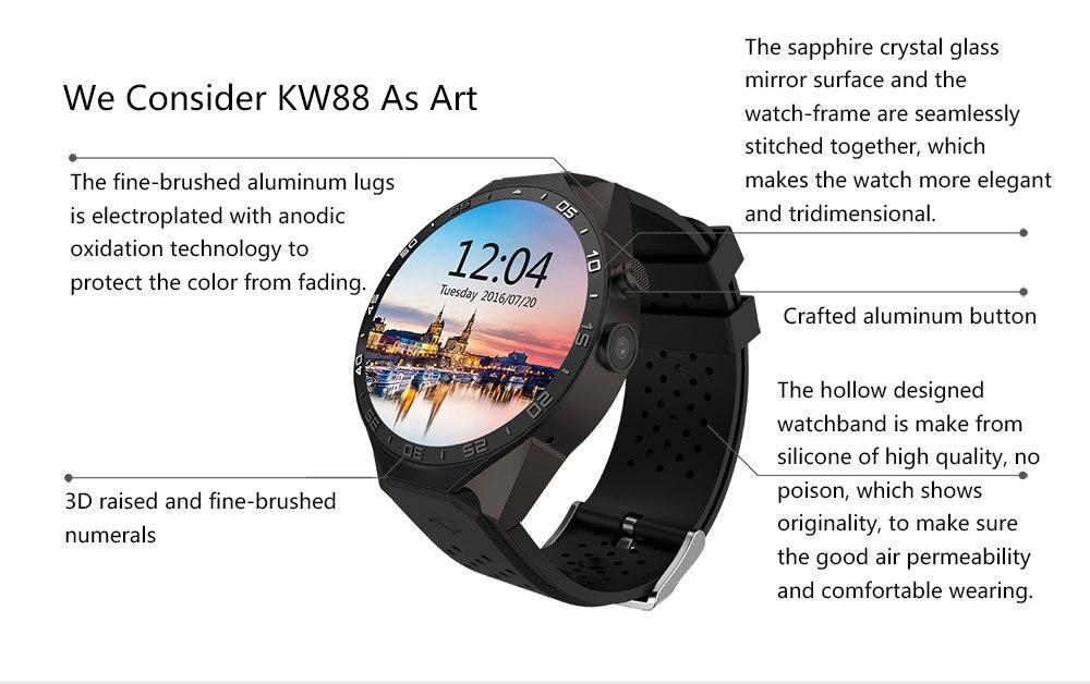 Kaimorui KW88 Smart Watch Android/ IOS Kaimorui KW88 Smart Watch Android/ IOS HTB1mQtxSFXXXXcMXVXXq6xXFXXXg