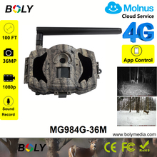 36MP 1080P 4G infrared hunting trail cameras MMS GPRS photo trap worldwide cloud service Molnus except for North America цена в Москве и Питере