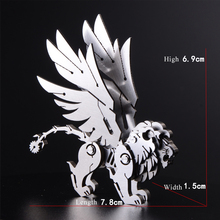3D Detachable Stainless Steel Scorpion Tail Lion Assembled Model Silver Decoration Toys Models For Boys Free Glue 7.8*6.9*1.5cm