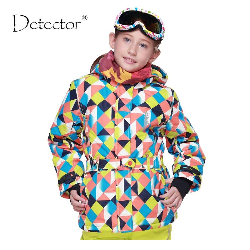 Détecteur Étanche Snowboard Vestes En Plein Air Fille de Ski Veste Enfants Ski Vestes Fille Vêtements Épais Garder Au Chaud Manteau Coupe-Vent