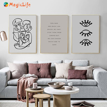 Abstract Human Rrgans Decor Wall Art Canvas Painting Nordic Poster Eye Wall Pictures For Living Room Art Prints Unframed
