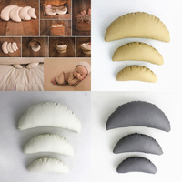 Crescent Shaped Pillow Newborn Photography Props Europe And America Pure Color PU Imitation Leather Baby Photography