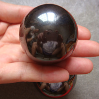 HOT 2PC 45mm Big Natural Power Magnetic Hematite Ball Polished Healing Specimens Exquisite Gift Or Home
