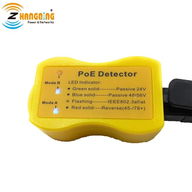 PoE גלאי PoE במהירות לזהות Power over Ethernet עם RJ45 מציין פסיבי/802.3af/at; 24 v/48 v/56 v משמש PoE מזרק