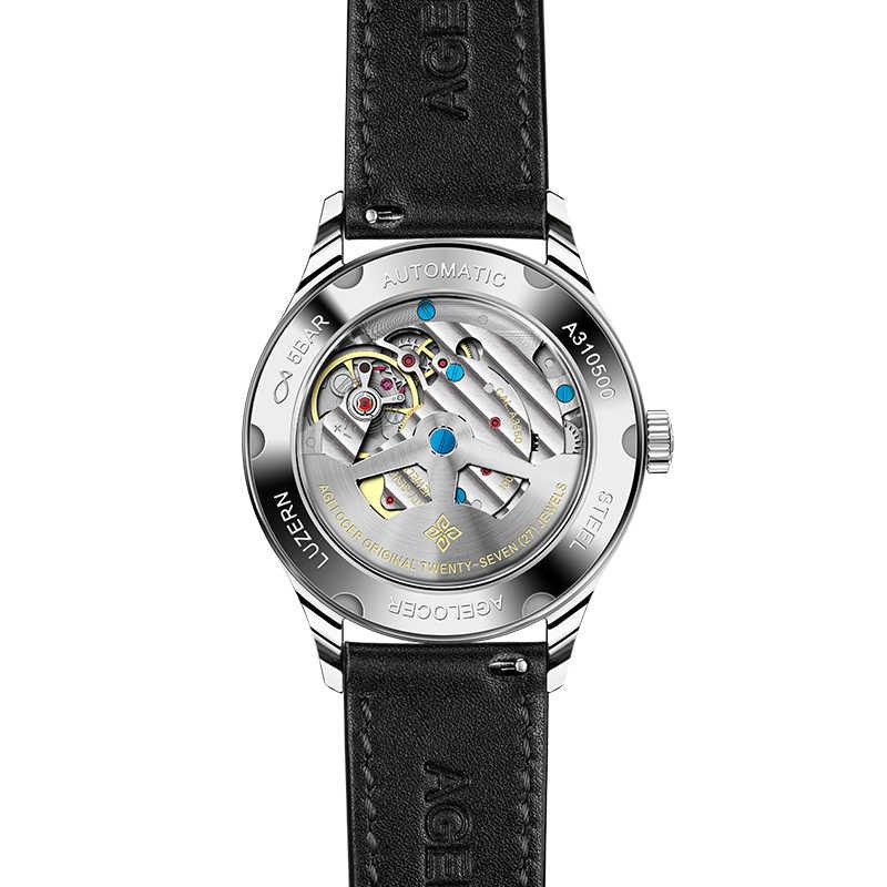 Agelocer Для женщин часы Роскошный швейцарский бренд Водонепроницаемый простой классический Шарм Стиль кварцевые натуральная кожа 316 Нержавеющаясталь часы