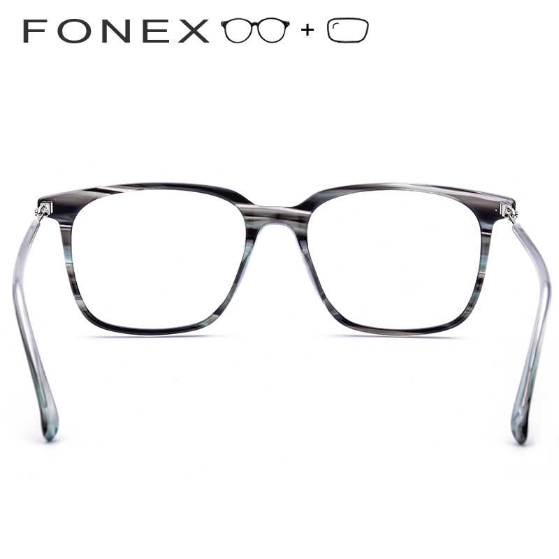 1c59b3cdb0 ... Acetate Prescription Glasses Men Big Oversize Square Eyeglasses Myopia  Optical Frame Screwless Eyewear Photochromic Progressive ...