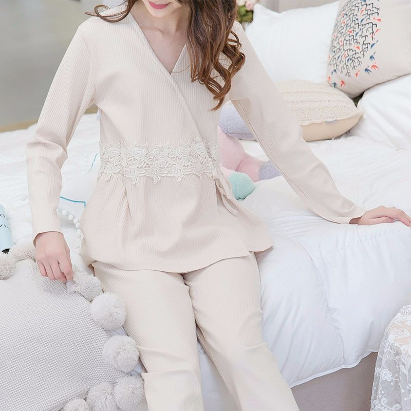 c62105cec4365 Maternity Nightwear Nursing Pajamas Soft Cotton Kimono Comfort Breastfeeding  Pajamas Pregnancy Clothes Nightdress Homewear-in Sleep & Lounge from Mother  ...