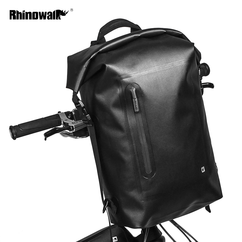 RHINOWALK Waterproof Cycling Backpack Bicycle Accessories Bag MTB Mountain Folding Bike Handlebar Front Bag Travel Luggage Case rhinowalk 25l bicycle backpack ultralight waterproof mtb mountain bike cycling backpack rucksack bike travel luggage packing bag