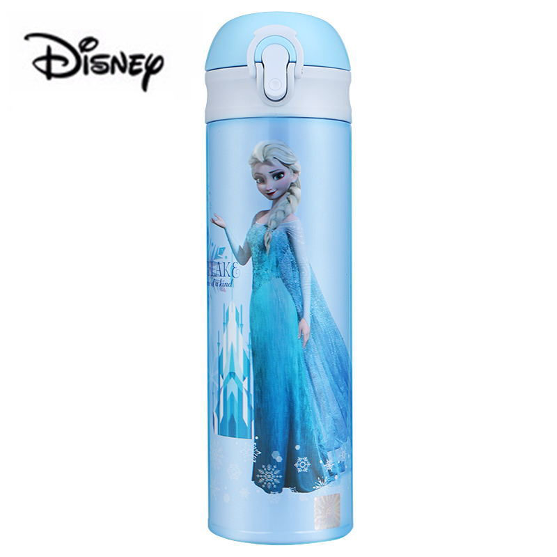 Disney 500ML Frozen Thermos Feeding Bottle Vacuum Flask Insulation Feeding Cup Bottles Leak-<font><b>poof</b></font> Student Thermos Cup Car Kettle image