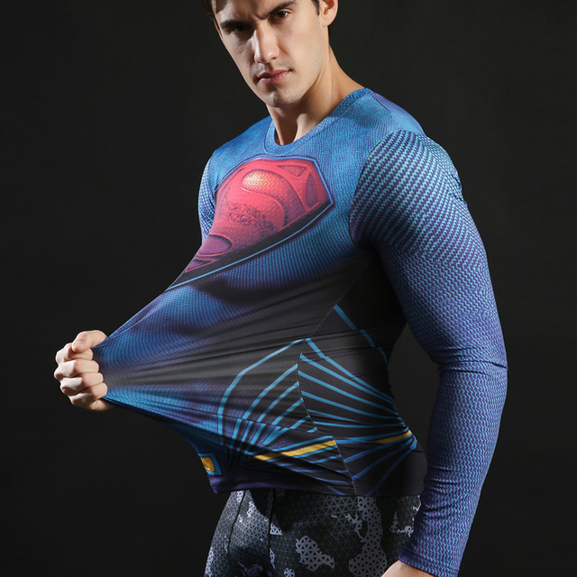 Superhero Compression Shirts Long Sleeve 1