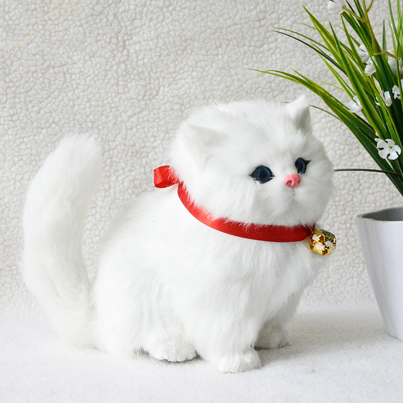 Simulation Cat Plush Toys Dolls Kawaii Sounding Cats Model Toy Animals Home Decoration For Children Kids Girls Gifts New Style