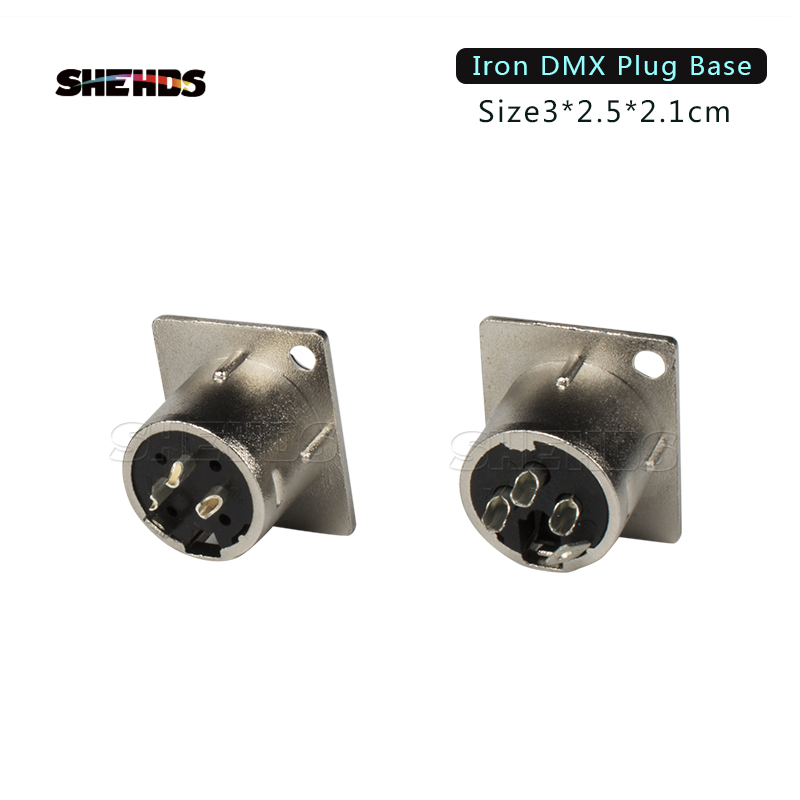 2PCS/Lot Iron/Plastic DMX512 Plug 3 Pin XLR Signal Socket Panel Adapter Connector For DMX Cable Stage Lights DMX Control