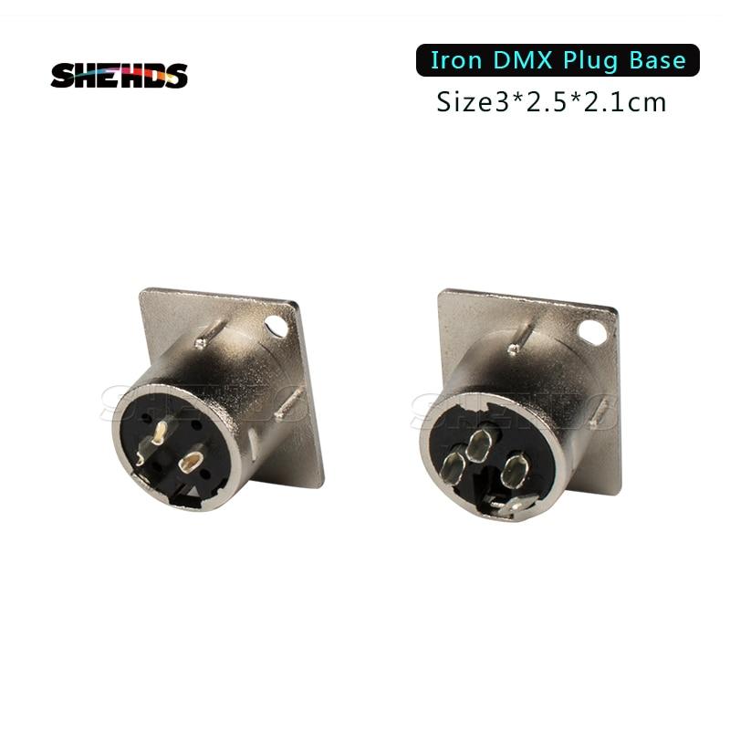 2PCS/Lot Iron/Plastic DMX512 Plug 3 Pin XLR Signal Socket Panel Adapter Connector For DMX Cable Stage Lights DMX Control