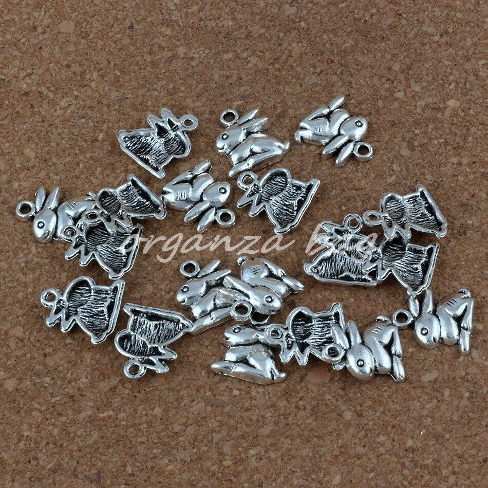 45Pcs Tibetan Silver Tone Halloween Skull Charms Pendants 13x14.5mm