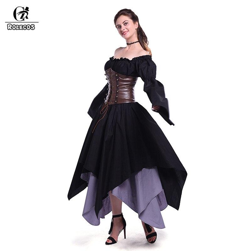 где купить ROLECOS 2017 New Women Dress Summer Cotton Medieval Renaissance Retro Long Dress Vintage Summer Party Dress Vestidos дешево