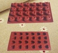 Cake decorating kit 24 gaten hartvorm siliconen bakvormen valentine gift chocolade maken anti-aanbak siliconen mold gratis verzending