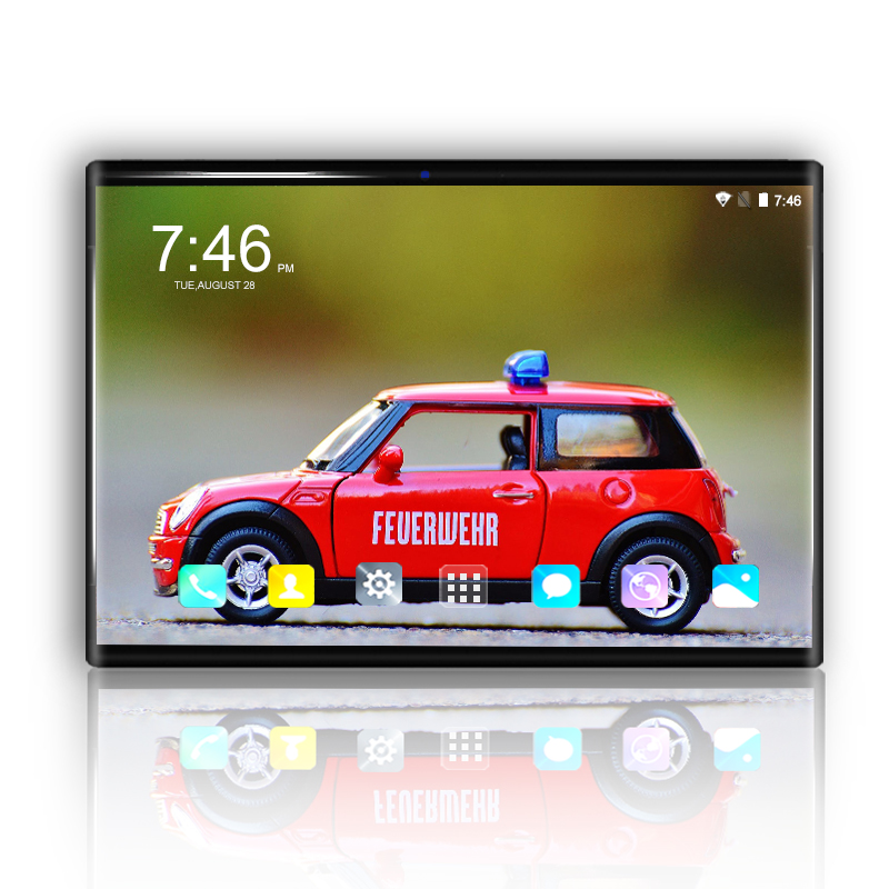 Hot 10.1 Inch Tablet PC Android 8.0 Octa 8 Core 3G 4G FDD LTE Phablet 6GB+64GB 1280*800 IPS Tempered Screen FM WIFI Tablets 7 10