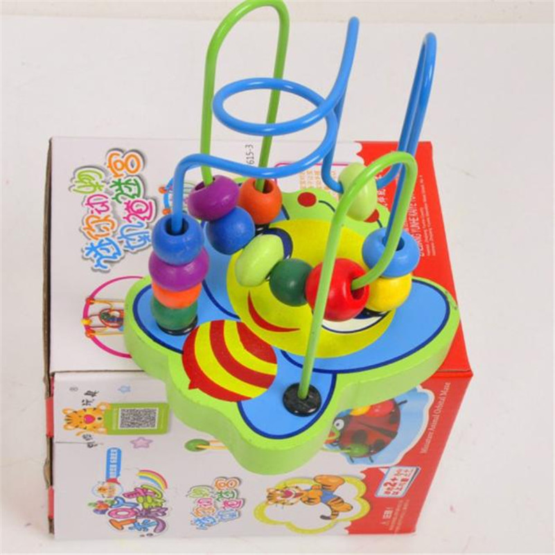 high quality Hot Children Kids Baby Colorful Wooden Mini Around Beads Educational Game T ...