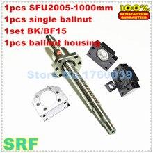 20mm Hadde Bilyalı 2005 takım: 1 adet SFU2005 L = 1000mm + 1 adet tek ballnut + 1 adet BK/BF15 sonu destek + 1 adet 2005 ballnut konut