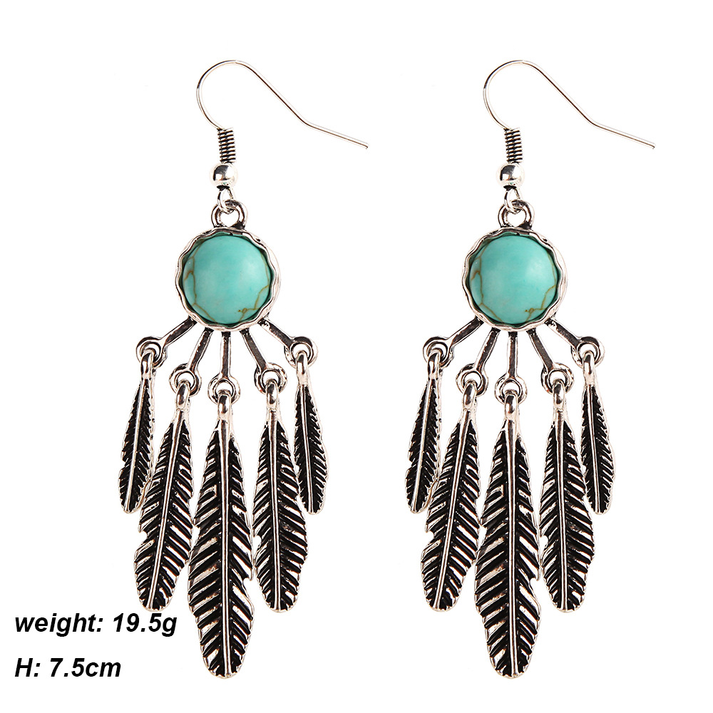 Feather earrings hippie chic aritos navajo earrings tribal feather earrings hippie chic aritos navajo earrings tribal chandelier earrings indian native american jewelry cowgirl in drop earrings from jewelry aloadofball Choice Image