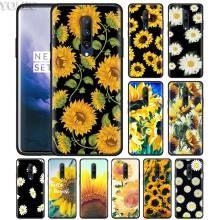Summer Daisy Sunflower Flower Phone Case for Oneplus 7 7Pro 6 6T Oneplus 7 Pro 6T Black Silicone Soft Case Cover