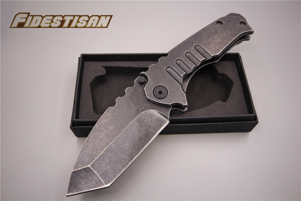 stone wash best stainless handle folding big knife stainless steel outdoor camping hunting survival tactical box knife army mace new browning folding knife stainless steel blade woodle handle camping portable survival hunting knife