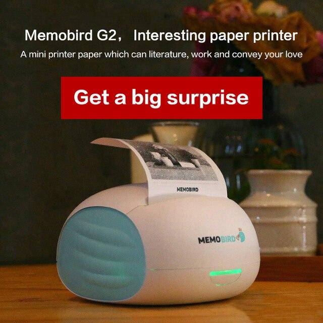 MEMOBIRD новый маленький принтер Wifi Портативный Bluetooth печать штрих-код беспроводной карманный термопринтер электронный компьютер офис