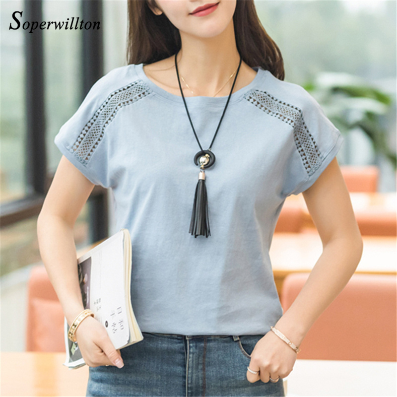 Cotton Summer Blouses Lace Batwing Sleeve Shirts For Womens Tops Shirts Plus Size Women Clothing Korean 2018 Blusas Female #B65 3