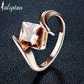 Iutopian elegant rose banhado a ouro praça anel de pedra jóias para mulheres com qualidade superior cz partido jóias frete grátis