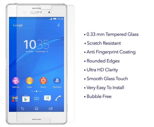 Skärmskydd härdat glas sFör Sony Xperia Z3 Compact Glass Film De - Reservdelar och tillbehör för mobiltelefoner - Foto 5