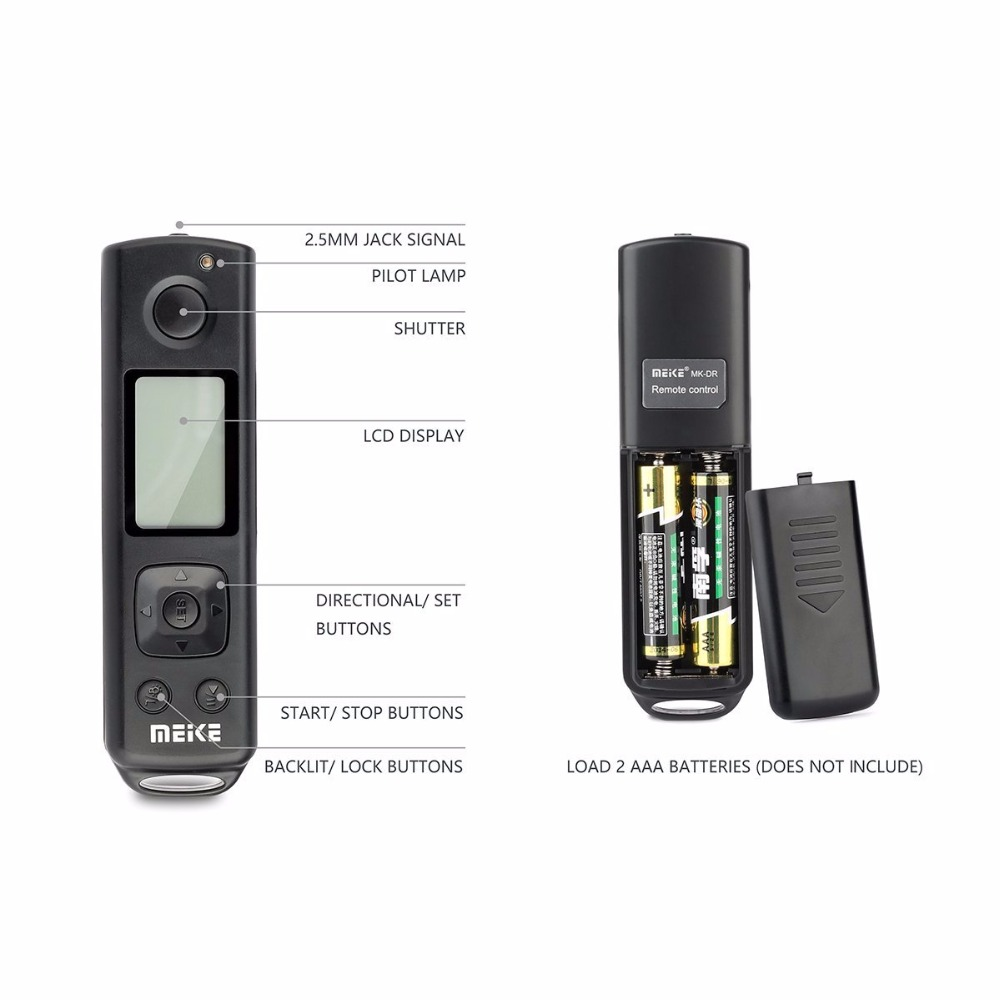 Meike MK-A6300 PRO Built-in 2.4GHZ Remote Controller Up to 100M to Control shooting for Sony a6300,a6000 camera