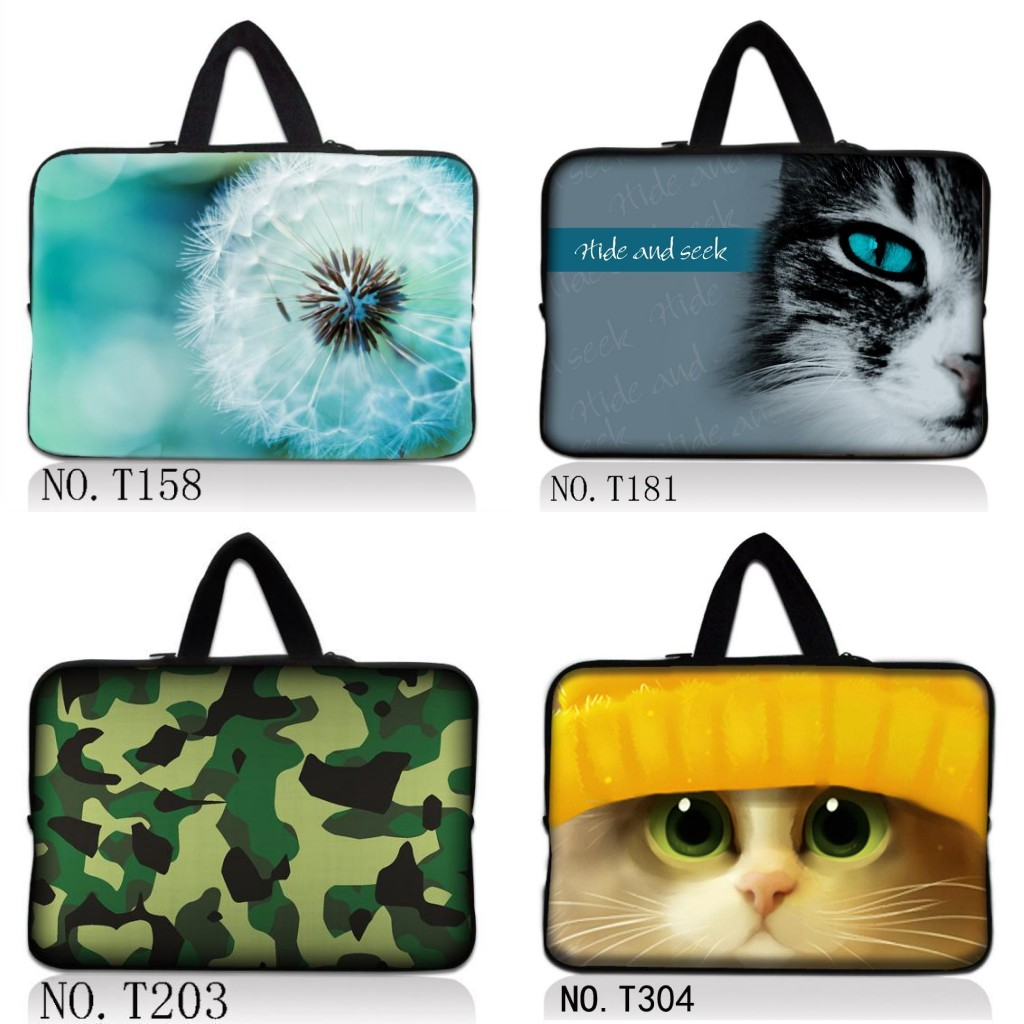 Cat <font><b>Laptop</b></font> Bag Tablet camouflage Sleeve Notebook <font><b>Case</b></font> For 10.1 11.6 12 13.3 14