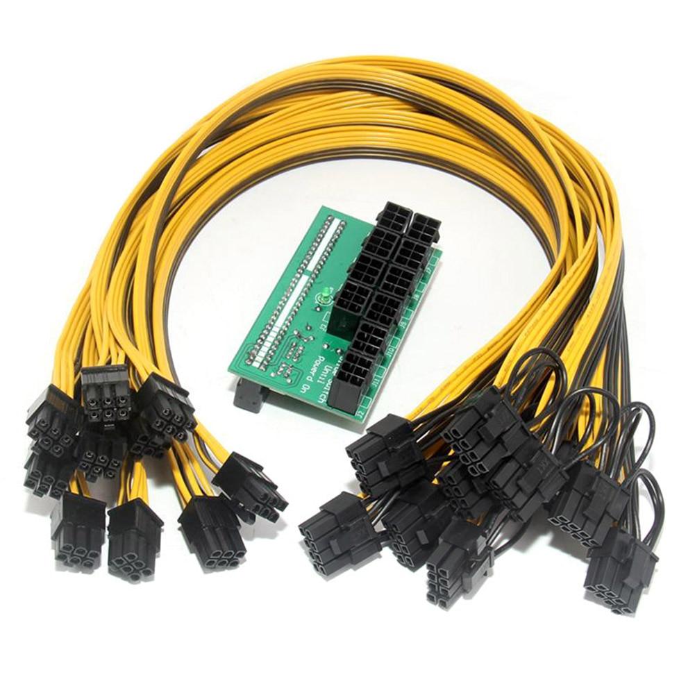 Breakout Board with 10pcs Cable for HP 1200w/750w Power Module Mining Ethereum XXM8 brand new power button board cable for hp pavilion 15 n series power button board da0u83pb6e0 w ribbon 732076 001